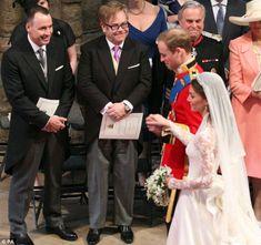 David and Elton at royal wedding