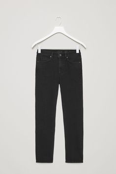 COS image 4 of Skinny-fit cropped jeans in Black