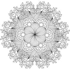 Mandala Coloring Page Spring Coloring Pages, Printable Adult Coloring Pages, Mandala Coloring Pages, Coloring Pages To Print, Coloring Book Pages, Mandala Pattern, Zentangle Patterns, Color Me Badd, Coloring Pages Inspirational