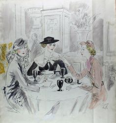 Illustration by Cecil Beaton for Vogue