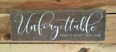 Excited to share the latest addition to my #etsy shop: Rustic Barnwood Unforgettable Sign