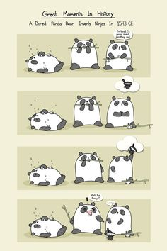 Hey, I found this really awesome Etsy listing at http://www.etsy.com/listing/118939044/a-bored-panda-invents-ninjas-art-print