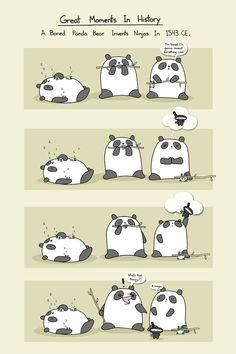 A+Bored+Panda+Invents+Ninjas+Art+Print+by+bikeparts+on+Etsy,+$30.00