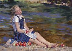 Mary Jane Q Cross, pintora que faz de seus dedos verdadeiros pincéis | #Artistas, #Jmj, #MaryJaneQCross, #Pintores
