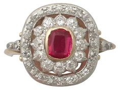 'Synthetic Ruby and 0.78 ct Diamond Dress Ring - Antique' http://www.acsilver.co.uk/shop/pc/Synthetic-Ruby-and-0-78-ct-Diamond-18-ct-Yellow-Gold-Dress-Ring-Antique-Circa-1907-35p9127.htm