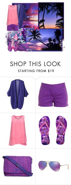 """""""At the beach in the evening..."""" by asia-12 ❤ liked on Polyvore featuring J.Crew, Zizzi, Vera Bradley, Ray-Ban, Summer and beach"""