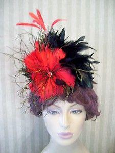 Victorian Hat~Kentucky Derby Feather Fascinator Hat~Headpiece~Photo Shoot Hat