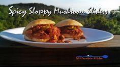 Spicy, Sloppy Mushroom Sliders #MeatlessMonday