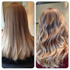 straight and wavy ombre hair