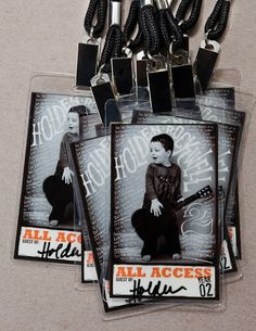 Rock Star party-equipped with All access passes with adorable pics of the birthday boy. (I have no boys, but this would work for my rocker chick daughters). amazing-party-ideas