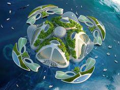 Aequorea: Una ciudad de edificios sumergidos impresos en 3D