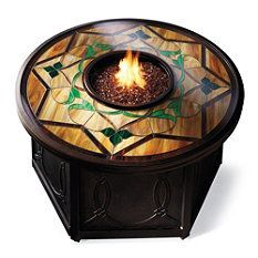 Imperial Stained Glass Fire Table - Frontgate