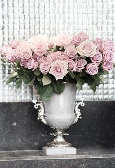 Paris Roses Photograph - Roses in an Urn, French Decor Photograph, Romantic Home…