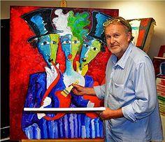 Artist - Laurens Barnard - LAUBAR in his studio - South Africa