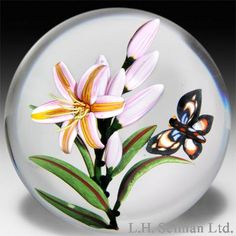 Colin Richardson 2013 tropical bloom stalk with butterfly paperweight. $ 1,200