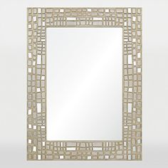 The x Rectangular Duchamp Mirror from Ren-Will features spectacular handmade mosaic frame design. The silver texture of the frame and chrome finish is sure to add liveliness and vibrancy to your home. Mirror Headboard, Wall Mirrors Entryway, White Wall Mirrors, Lighted Wall Mirror, Rustic Wall Mirrors, Fireplace Mirror, Contemporary Wall Mirrors, Round Wall Mirror, Mantel Mirrors