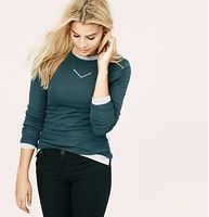 Lou & Grey Closer Tee - Introducing a new line of easy, texture-rich pieces for your every day. Smooth, soft and stretchy, this tee holds you close - in all the right places. Crew neck. Long sleeves. Ribbed neckline.