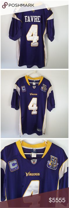 "COMING SOON! ""LIKE"" TO BE NOTIFIED VIA PRICE DROP COMING SOON! ""LIKE"" to be notified via price drop when closet re-opening after moving! Price listed will NOT be the price when closet re-opens. Brett Farve Minnesota Viking Jersey. More pictures and measurements coming soon! Add to a Bundle! Offer 40% Less via Bundle Offer Button! NFL Rebok Tops"