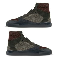 Hot #sneakertrends check out these @Balenciaga kicks are fire. #Balenciagaproduces a three-way medley of textures with this latest high-top sneaker model.  #streetwear #streetluxe #menswear #mensblog #mensaccessories #kicksonfire #sneakertrends #footwear #sneakerheads #footweartrends #mensshoetrends #athleisure #leisurewear #mensblog #menssneakertrends #gq #complex #hypebeast #urban #cyclists #mensstyle #gq #dandy #bespoke #mensfashiontrends #dapper