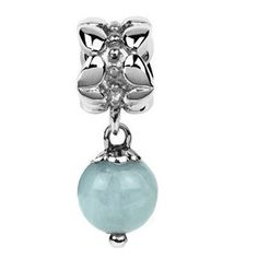 637945d3a Sterling Silver Natural Aquamarine 8mm Dangle Bead Charm (March Birthstone)  ARG http:/. Faceted CrystalCyber Week DealsJewellery ...