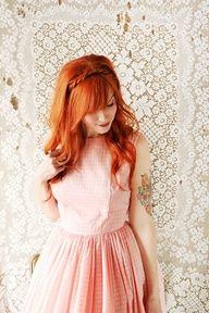 Beautiful red-orange hair.