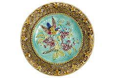 French Majolica Bird     Plate on OneKingsLane.com