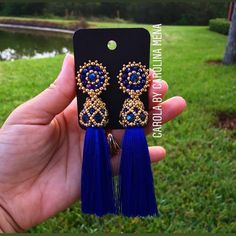 Diy Tassel, Tassel Jewelry, Jewelery, Paper Earrings, Soutache Earrings, Earrings Handmade, Handmade Jewelry, Beading Projects, Beaded Rings
