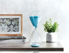 Home Decor - Home Decor Sand Timers, Decorative Accessories, Blue, Home Decor, Bedroom Decor, Shop, Silver, Decoration Home, Room Decor