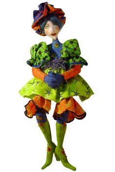 Cloth doll's by Jacquie Lecuyer.  http://www.artdollstoday.com #dolls #fabric
