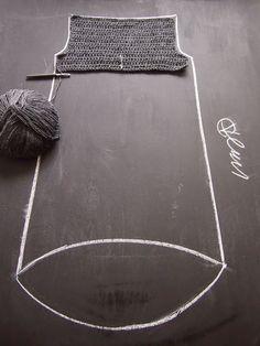 VMSomⒶ Коппа: Асимметричная подол - вязаные рубашка