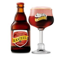 Kasteel Rouge, 8% 6/10  was launched in 2008 and is the fruity brother in the Kasteel range.  By mixing Kasteel Donker with beer that has been aged for a minimum of 6 months with cherries they obtain an exceptional flavor and dark color. Kasteel rouge is a complex, sweet and fruity beer.