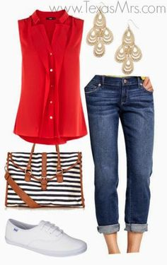 510c9f01acf 10 ways to wear a red top work outfit and look good