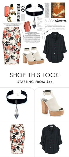 """not-so-basic: black chokers. <3"" by tatjana ❤ liked on Polyvore featuring VSA, Vision, Rebecca Minkoff, River Island, Xirena, Marc Jacobs and Tom Ford"