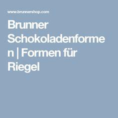 Brunner Schokoladenformen | Formen für Riegel
