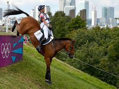 "Mary King of Britain rides her horse ""Imperial Cavalier"" in the Cross Country event."
