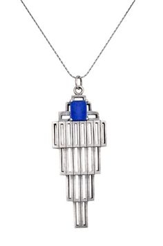 CASCADING LAPIS PENDANT | THE JEWELER\'S DAUGHTER | STERLING SILVER