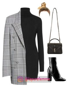 Sans titre A fashion look from December 2017 by frenchystyle featuring Equipment, Alexander Wang, Louis Vuitton and Yves Saint Laurent Classy Outfits, Chic Outfits, Winter Outfits, Fashion Outfits, Womens Fashion, Classy Casual, Classy Chic, Smart Casual, Dress Winter