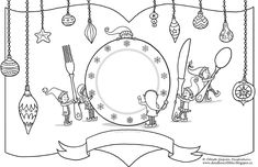 Christmas Place Mats for Kids – digital, printable For those of you with kids, and a lot of holiday dinner plans with friends and family, here's an idea… printable colouring place…