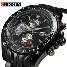2016 New Curren fashion auto Date full steel Watch Military Man Business Casual quartz Wristwatch Brand Relojes Hombre Male #>=#>=#>=#>=#> Click on the pin to check out discount price, color, size, shipping, etc. Save and like it!
