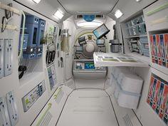 Images of the Commercial Space Station - Орбитальные технологии Spaceship Interior, Futuristic Interior, Futuristic Architecture, Spaceship Design, Space Tourism, Space Travel, Escape Room, Colani, Sci Fi Environment