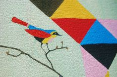 Giclee print on Hahnemühle German Etching paper.  Love the colors of the bird