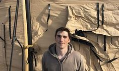 Jake Pogue, a 32-year-old marine corps vet, returned to the Sacred Stone camp on Friday. - Army veterans return to Standing Rock to form a human shield against police A growing group of military veterans are willing to put their bodies between Native American activists and the police trying to remove them