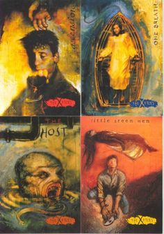 The X-Files (art from some sort of collector cards back in the day) Jackie probably had some of these :)