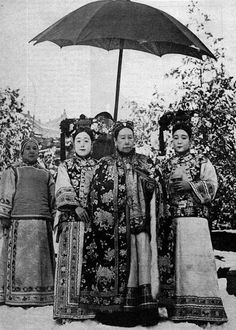 China. Empress Dowager Cixi (Tzu Hsi) and her attendants, 1903
