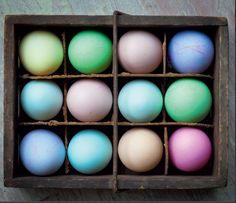 Easter Eggs (naturally dyed with kitchen scraps)