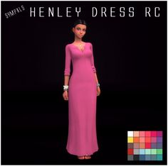The Sims Resource: Henley Dress by Sympxls • Sims 4 Downloads