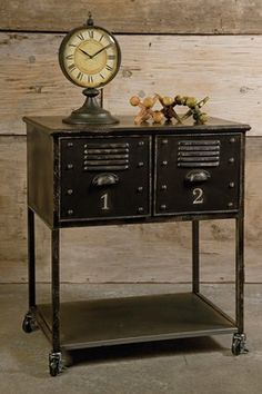 Revamp With Vintage Accents: Alastor Rolling Cart Two-Drawer Table