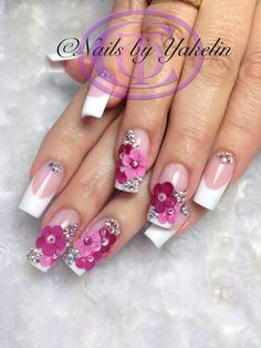 Super creative nail art design idea for the new year! Glam Nails, Hot Nails, Fancy Nails, Bling Nails, Hair And Nails, Fabulous Nails, Gorgeous Nails, Pretty Nails, French Nails Glitter