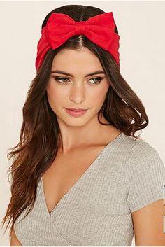 Été Rouge Arc En Mousseline de Soie Bandeau Écharpe Cheveux Accessoires pour Femmes Stretch Bandeaux Élastique Rayé Bowtie Turban Chapeaux