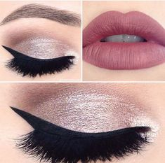 Looks created using shades from tarte cosmetics showstopper clay palette, tarteist clay paint liner and LipSurgence™ matte lip tint in the shade envy. Cute Makeup, Gorgeous Makeup, Pretty Makeup, Perfect Makeup, Make Up Looks, Glamour Make-up, Nail Art Swag, Make Up Inspiration, Homecoming Makeup